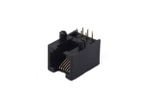 RJ11 female connector 1x1 6P jack