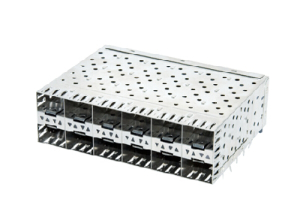 Stacked SFP 2x6 Receptacle with Cage