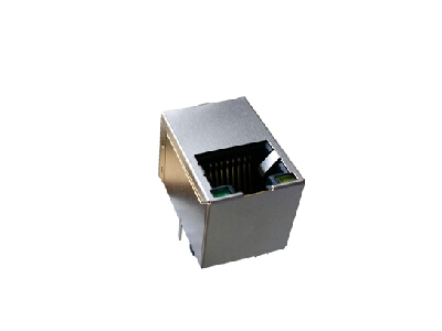180 degree rj45 connector with transformer