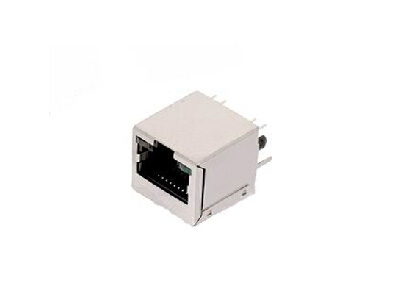 rj45 ICM connector with integrated magnetics