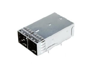 External Mini-SAS HD receptacle assembly 1x2