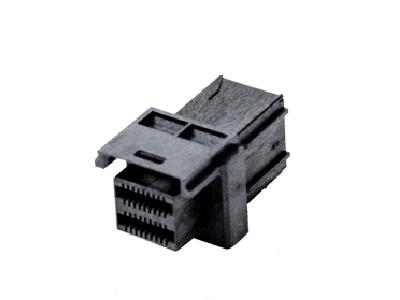 Internal Mini SAS HD receptacle assembly right angle 1x1