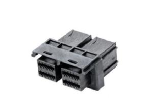 MiniSAS HD receptacle conn 1×2 internal